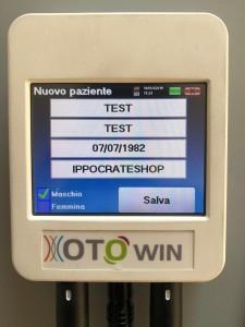 inserimento anagrafica paziente con audiometri otowin