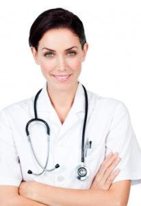 dottoressa con stetoscopio